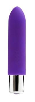 Фиолетовая вибропуля VeDO Bam Mini - 9,5 см.