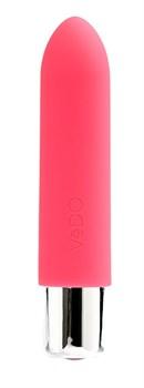 Розовая вибропуля VeDO Bam Mini - 9,5 см.