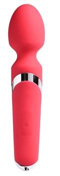 Ярко-розовый вибромассажер VeDO Wanda - 23,9 см.