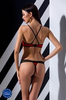 Пикантный комплект белья Scarlet со стреп-лентой