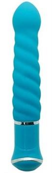 Голубой спиралевидный вибратор ECSTASY Charismatic Vibe - 20,7 см.