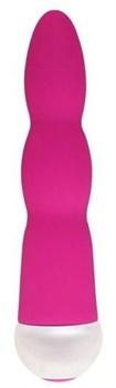 Розовый вибратор Fashion Succubi Wavy Wand - 14,5 см.