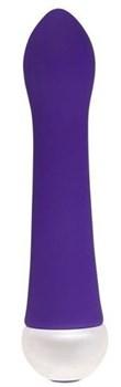 Фиолетовый вибратор Fashion Succubi Caressing Vibe - 14,5 см.