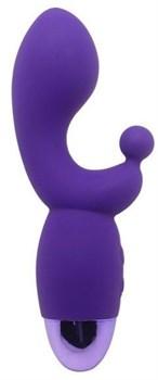 Фиолетовый вибратор INDULGENCE Rechargeable G Kiss - 16,5 см.