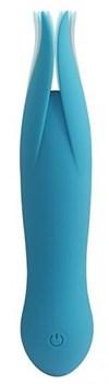 Голубой клиторальный вибростимулятор LITTLE SECRET - 16,5 см.