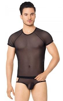 Эффектный полупрозрачный мужской комплект из сетки