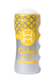 Мультирельефный мастурбатор MensMax Colors - Frill Yellow