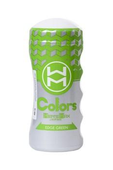 Мультирельефный мастурбатор MensMax Colors - Edge Green