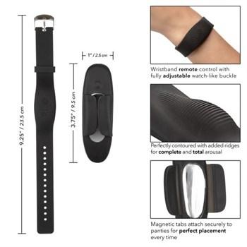 Стимулятор в трусики с пультом-браслетом Lock-N-Play Wristband Remote Panty Teaser