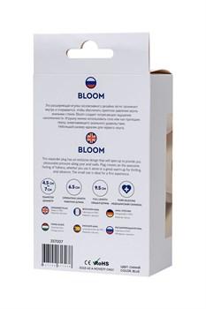 Синяя силиконовая расширяющая анальная втулка Bloom - 9,5 см.