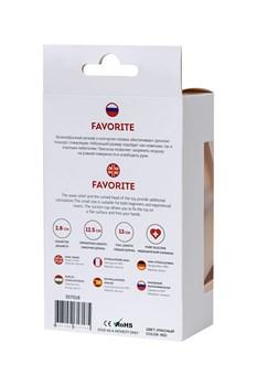 Красный силиконовый анальный фаллоимитатор Favorite - 13 см.
