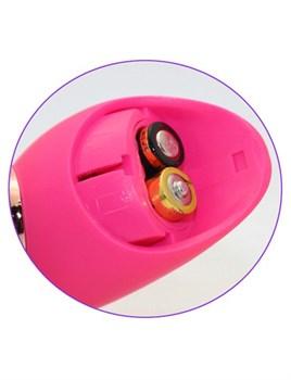 Розовый вибратор с 2 ушками Flower Core - 18,1 см.