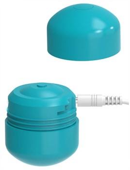 Бирюзовый клиторальный стимулятор Cute Bullet