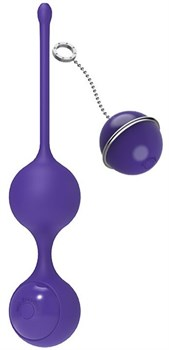Фиолетовые виброшарики с пультом управления K-Balls