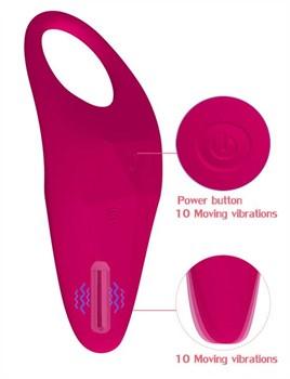 Малиновое эрекционное виброкольцо