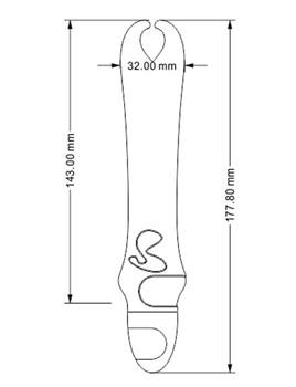 Розовый вибратор с рожками Pedicel - 17,8 см.