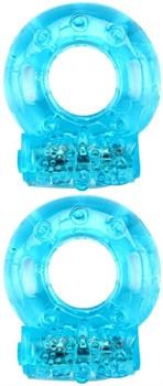 Набор из 2 голубых эрекционных виброколец