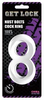 Прозрачное гладкое двойное эрекционное кольцо Get Lock