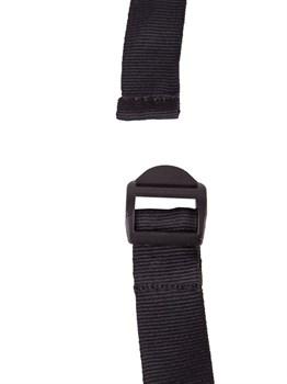 Черный кляп-шар на ремешках с пряжками