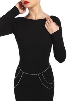Серебристое украшение на плечи или бёдра MIA ARGENT