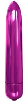 Розовая гладкая вибропуля Rocket Bullet - 8,9 см.