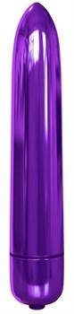 Фиолетовая гладкая вибропуля Rocket Bullet - 8,9 см.