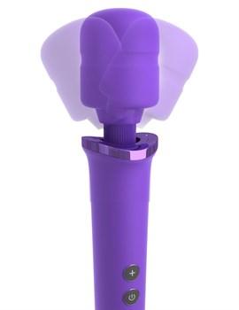 Фиолетовый вибромассажер Rechargeable Power Wand