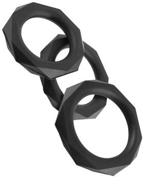 Набор из 3 граненых эрекционных колец C-Ringz Silicone Designer Stamina Set
