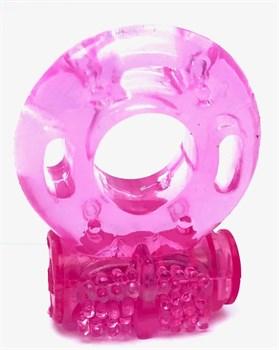 Розовое эрекционное кольцо Vander с вибрацией