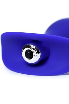 Синяя анальная вибровтулка Fancy - 10,7 см.