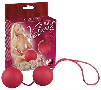 Красные вагинальные шарики Velvet Red Balls