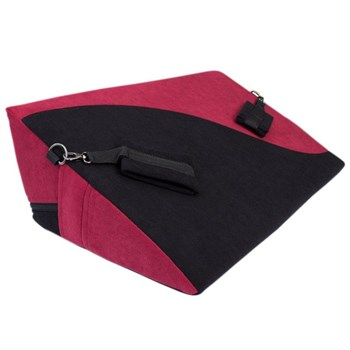 Малиново-черная подушка для любви HANNA с фиксаторами