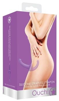 Фиолетовый безремневой страпон Silicone Strapless Strapon