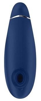 Синий бесконтактный клиторальный стимулятор Womanizer Premium