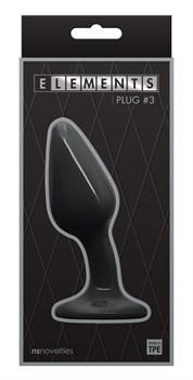 Черный гладкий изогнутый анальный плаг Plug № 3 - 12,3 см.