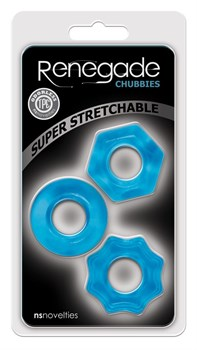 Набор из 3 голубых эрекционных колец Chubbies