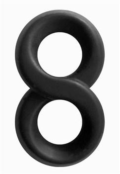 Черное эрекционное кольцо-восьмерка Infinity Ring