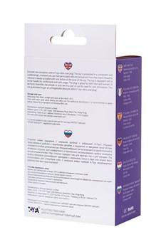 Фиолетовая изогнутая анальная вибропробка - 14 см.