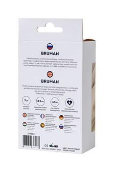 Фиолетовый вибростимулятор простаты Bruman - 12 см.