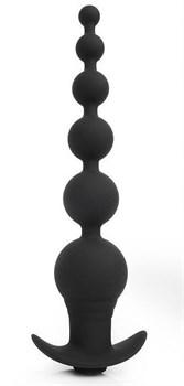 Черная анальная виброелочка TOWER - 20,7 см.