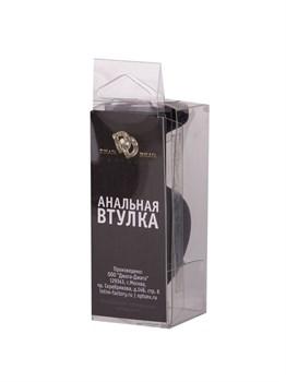 Черная силиконовая пробка с малиновым кристаллом - 7,3 см.