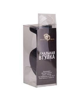 Черная силиконовая пробка с радужным кристаллом - 7,3 см.