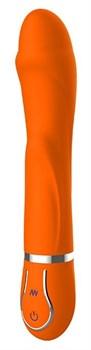 Оранжевый вибратор DIAMOND DARLING - 22 см.