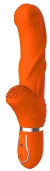 Оранжевый вибратор ORANGE PERFECTION - 22 см.