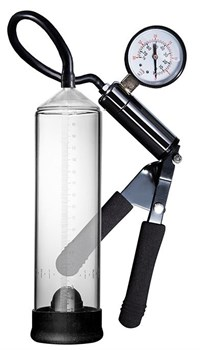 Прозрачная вакуумная помпа с клапаном PENIS ENLARGEMENT PUMP