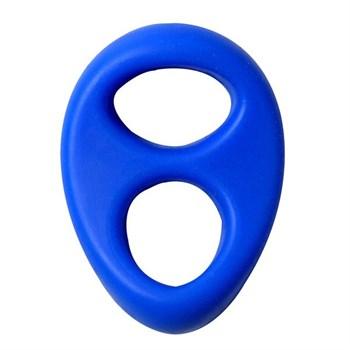 Синее эрекционное кольцо на пенис RINGS LIQUID SILICONE