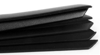 Черная узкая плеть с заклепками - 26,5 см.