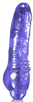 Фиолетовый вибратор LIGHT UP 100 RHYTHMS VIBE - 19 см.