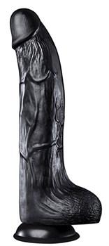 Черный фаллоимитатор HOODLUM 9INCH REALISTIC DONG - 23 см.