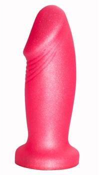Розовая пробка-фаллос - 13,7 см.